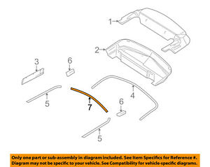 Image Is Loading Ford Oem 06 14 Mustang Convertible Top Rear