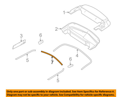 FORD OEM 06-14 Mustang Convertible Top-Rear Molding AR3Z76423A20AA