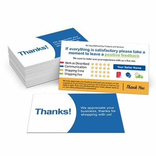 1000 Custom Printed Full Color Ebay Seller Id Thank You Cards For Sale Online Ebay
