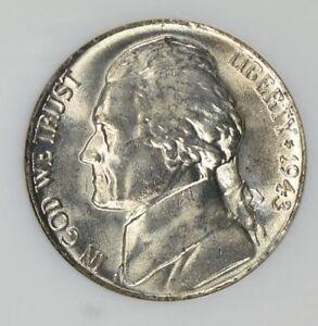 "With Mint /""Luster/"" 1943-P Silver Jefferson War Nickel Gem BU"