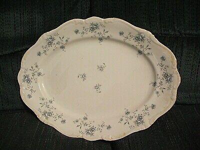 "Vintage Johann Haviland China Bavaria Germany Blue Garland 14/"" Oval Meat Platter"