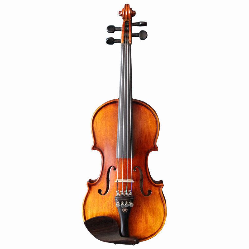 E22 Handmade 1 32 Size Wooden Violin Beginners Practice Musical Instrument M