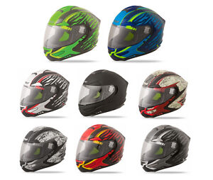 Adult FLY Luxx Shock Helmet Full Face Motorcycle Street Bike DOT Approved