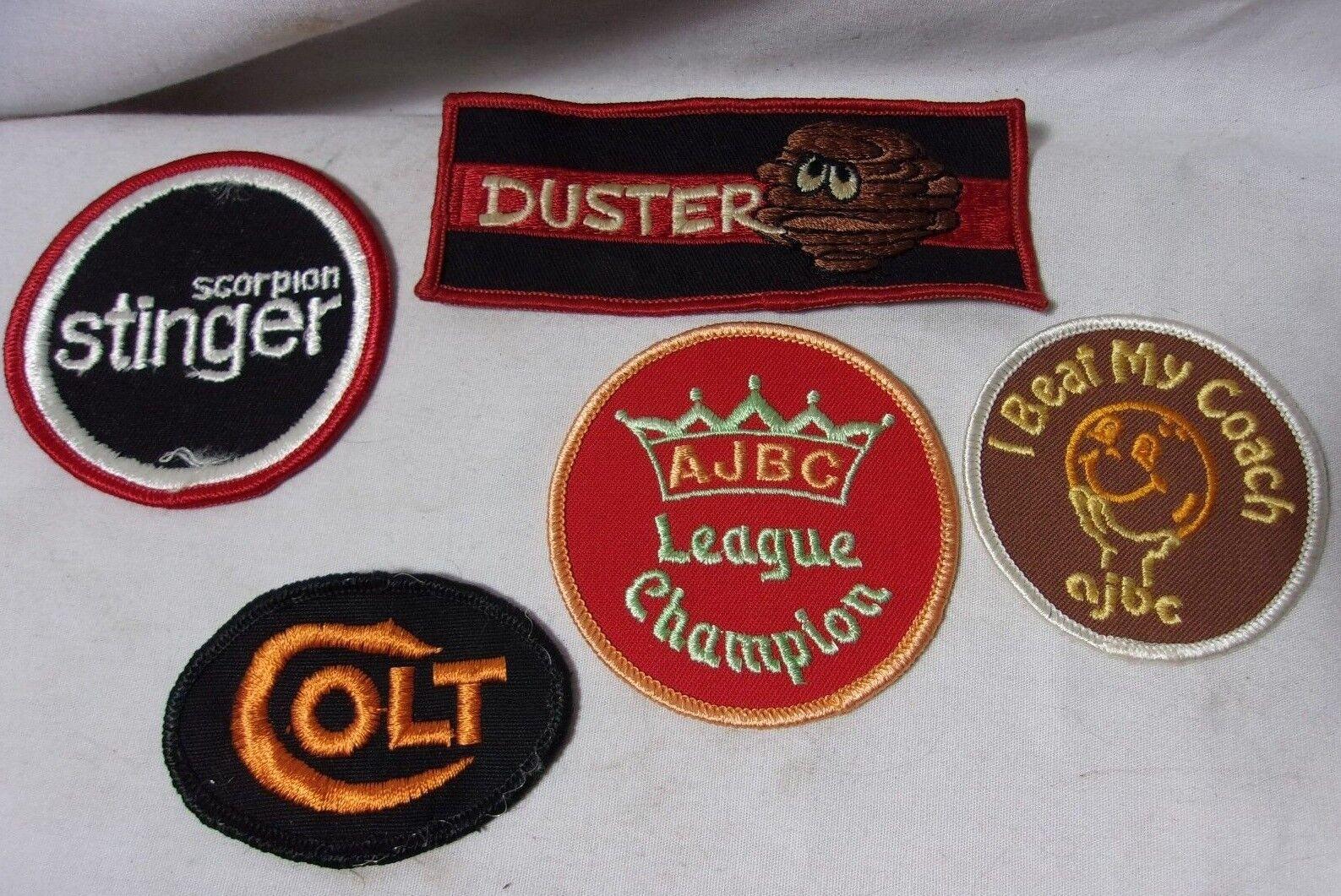 Vintage Patches Patch Colt Bowling League Duster Car Scorpion Snowmobile   T