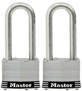 Master Lock Padlock, Laminated Stainless Steel Lock, 2 in. Wide, 5SSTLJ (Pack of