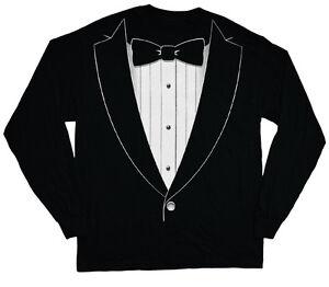 b7e1c493 long sleeve t-shirt for men tuxedo tee shirt tux wedding groom ...