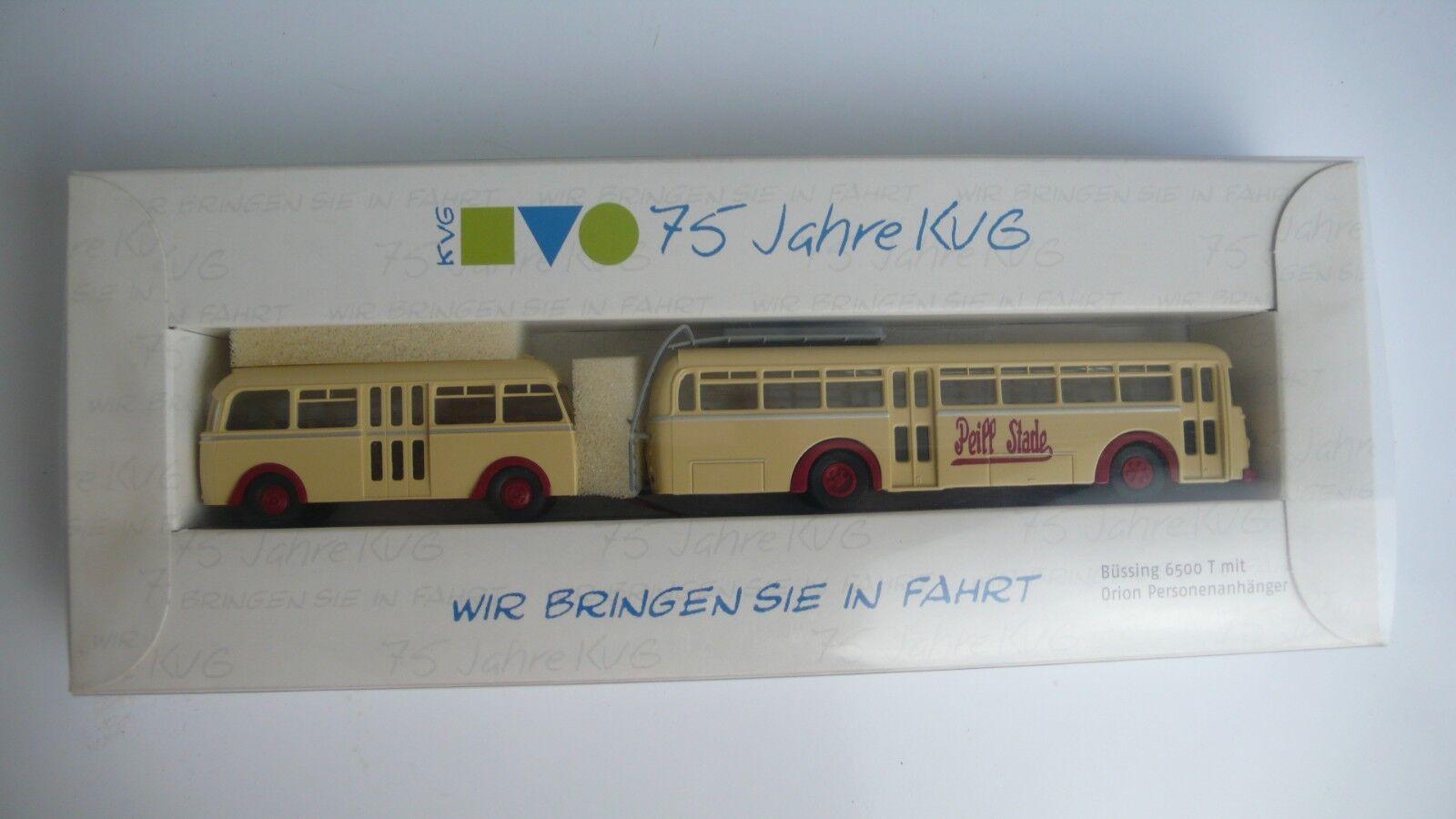 Brekina 75 ans KVG, Büssing, limitatifs Numéro 485, neuf dans sa boîte, NEUF, h0, 1 87, RAR 2003