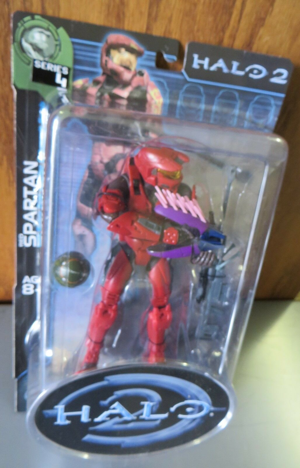 HALO 2 SERIES 4 RED SPARTAN GREY VARIANT NEW RARE