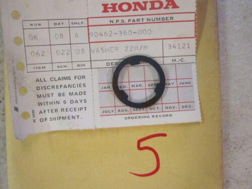 NOS Honda 74 75 76 77 78 MT125 CR125 22mm Transmission Washer 90462-360-000