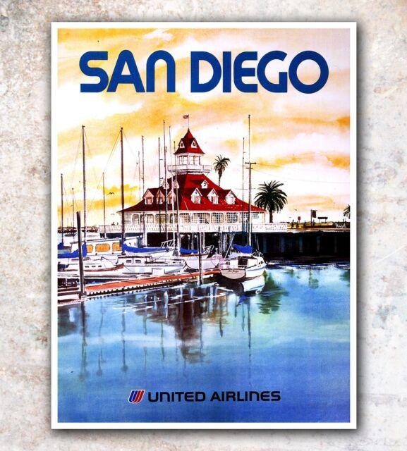 "San Diego Art Travel Poster Wall Decor Print 12x16"" A69"