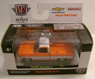 M2 Machines 2020 Auto Trucks R58 1975 GMC SIERRA GRANDE 15 Squarebody Pickup