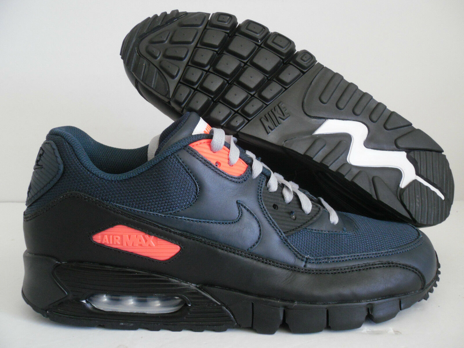 NIKE AIR MAX 90 CURRENT ID NAVY Bleu-ATOMIC rouge SZ 11