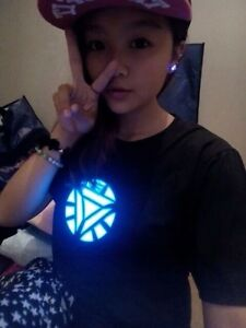 LED-T-shirt-Iron-Man-Arc-Reactor-Tony-Stark-Allument-Clignotant-Sonore-Active