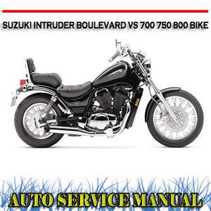 suzuki intruder boulevard vs 700 750 800 bike workshop service rh ebay com au 2000 Suzuki Intruder 800 Specs 2008 Suzuki Intruder 800