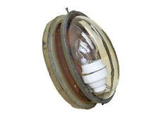 Vecchio antica Maggio Lampada da fabbrica Loft lampada oval um 1915