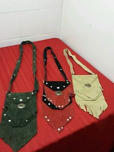 6c140c13c1ca ONE Handmade Leather Fringe Small Purse Cross Body Bag 3 difference ...