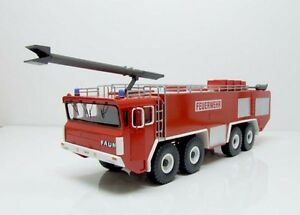 1/50 Faun 1412/52V 8x8 Fire Truck (Feuerwehr)  - High Quality Resin KIT