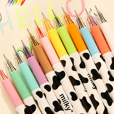 12pcs//lot Colorful Cow Print Gel Pen Cute Pens Student Office Accessories Hot
