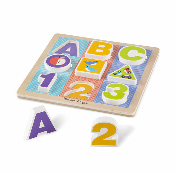 Melissa & Doug K's Kids - First Play Wooden ABC-123 Chunky Puzzle