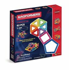 Magformers Magnetic Magnet Toy Game For Brain Development - 62 Pc Standard Set