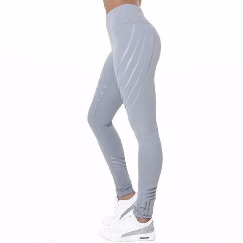 Damen Legging Stretch Sporthose Laufhose Fitness YOGA Gym Trainingshosen Leggins