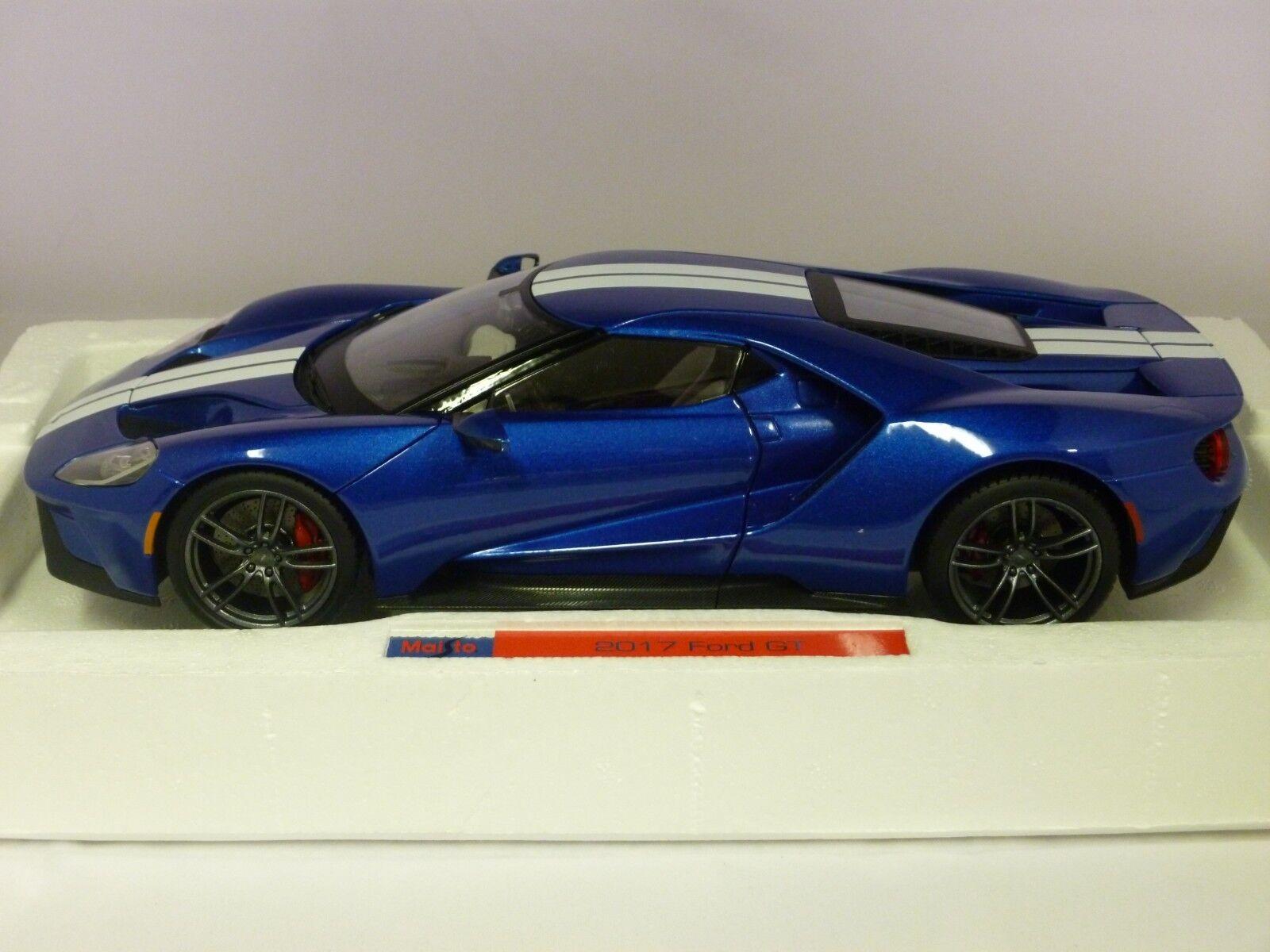 1 18 Maisto Ford GT Bleu