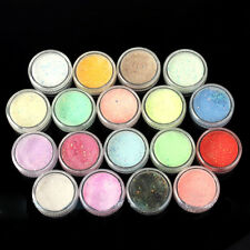 18 Colors Nail Art Glitter Powder Dust For UV GEL Acrylic Powder Decoration Tips