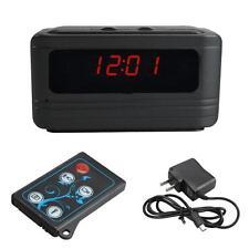 5MP HD 720P Camcorder Spy Alarm Clock Video Hidden Camera DVR Motion /w Remote