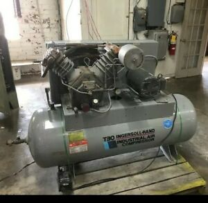 Ingersoll-Rand T30 7.5 HP 120 Gallon Tank Air Compressor: Fully Functional!