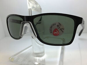 68833472d8 AUTHENTIC RAYBAN RB 4234 601 9A BLACK GREEN POLARIZED LENS 58MM