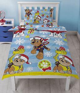 Paw Patrol Funda nórdica individual cubierta del edredón conjuntos de cama para niños niños