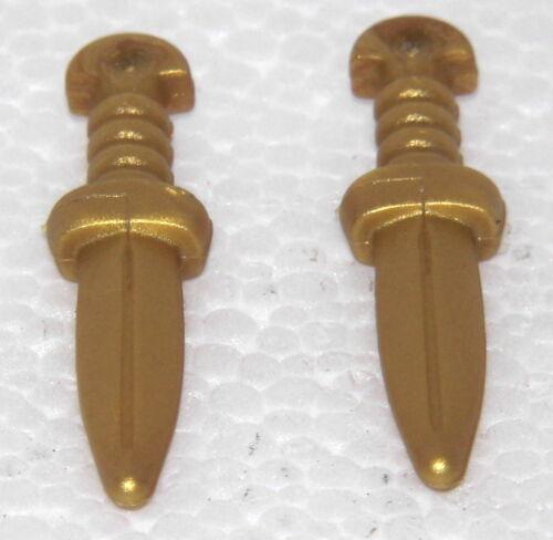 2 x Dague COUTEAU Gold Playmobil à Romains Quadriga Arena Légion Chevalier RAR 1471