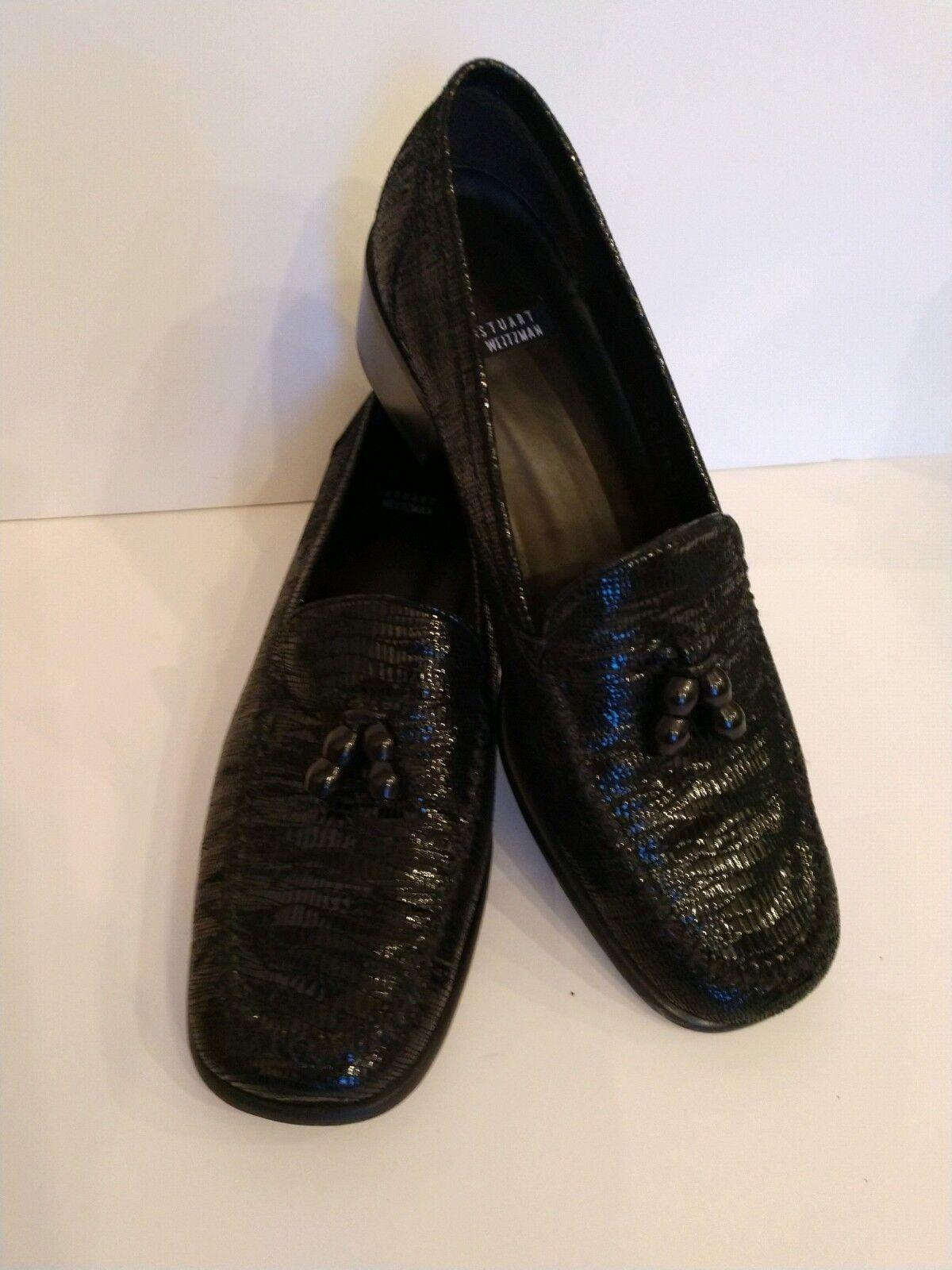 Stuart Weitzman Weitzman Weitzman Leather Snake Skin Loafers. Size 7.5. Worn once. acdddc