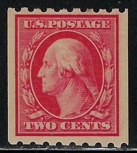 SCOTT 391 1910 2 CENT WASHINGTON REGULAR ISSUE COIL SINGLE MNH OG F-VF CAT $55!