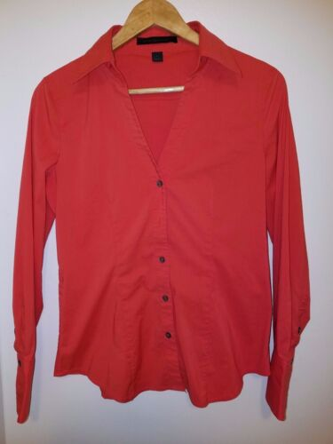 WOMEN/'S EXPRESS STUDIO DESIGN BUTTON DOWN BLOUSE MEDIUM