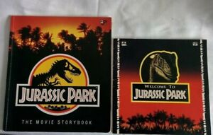 Lot of 2 Vintage 1993 Welcome To Jurassic Park MOVIE STORYBOOK Golden Books