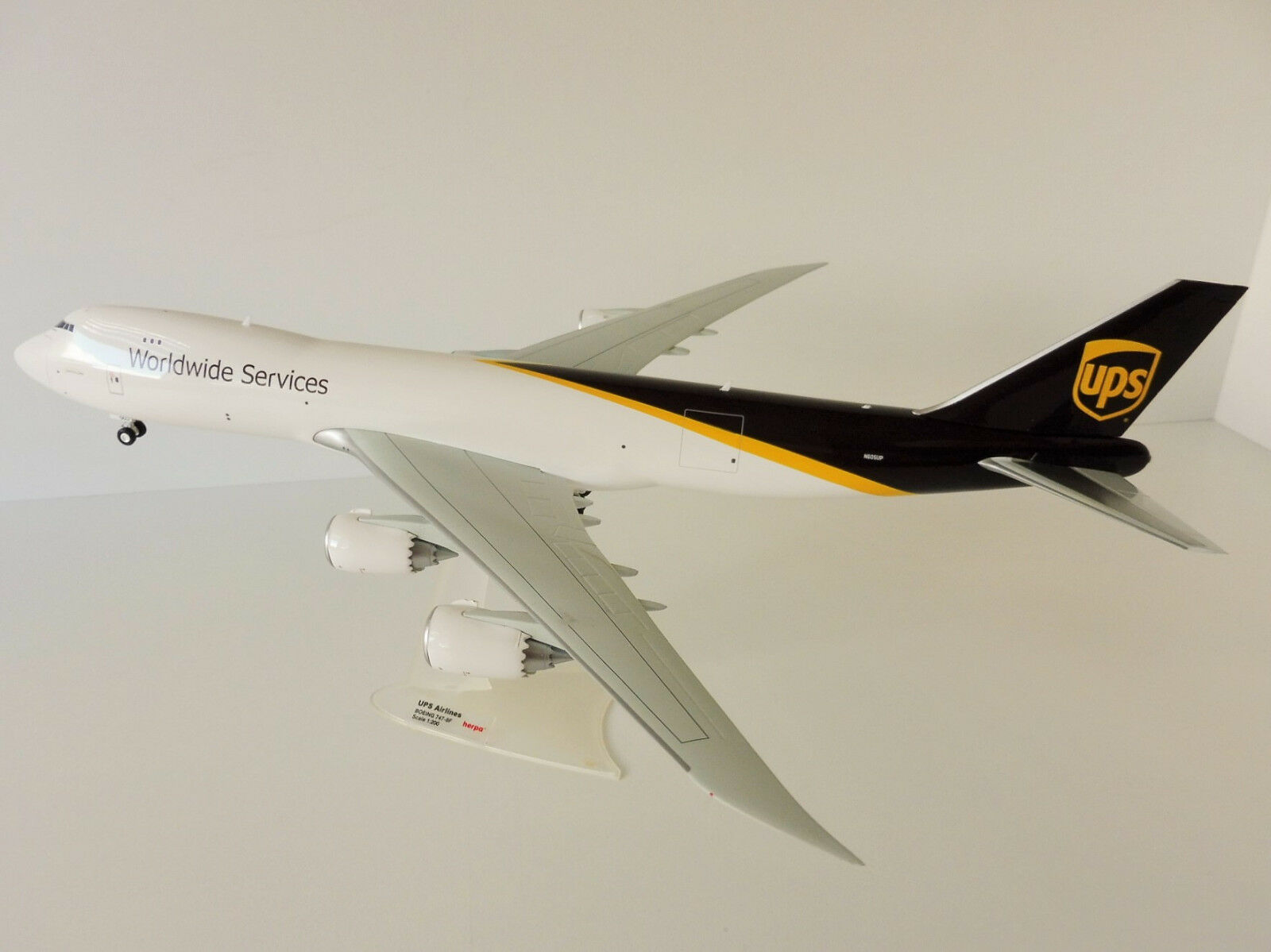 Boeing 747-8f UPS Airlines 1 200 Herpa 558822 747 747-8 Freighter nave da trasporto
