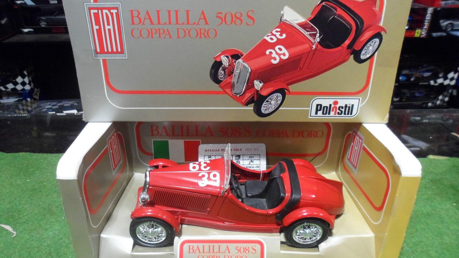 FIAT BALILLA 508 S COPPA D'oro  16 no 1 18 POLISTIL TG 13 voiture miniature