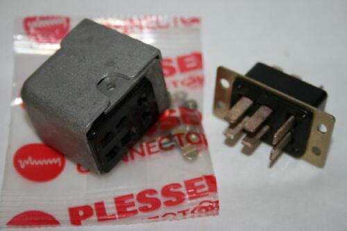 Heavy Duty 6 VIE Plug /& Presa COPPIA PLESSEY Jones Connettori fba15e