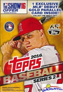 2016-Topps-Series-2-Baseball-HUGE-EXCLUSIVE-Factory-Sealed-72-Card-Hanger-Box
