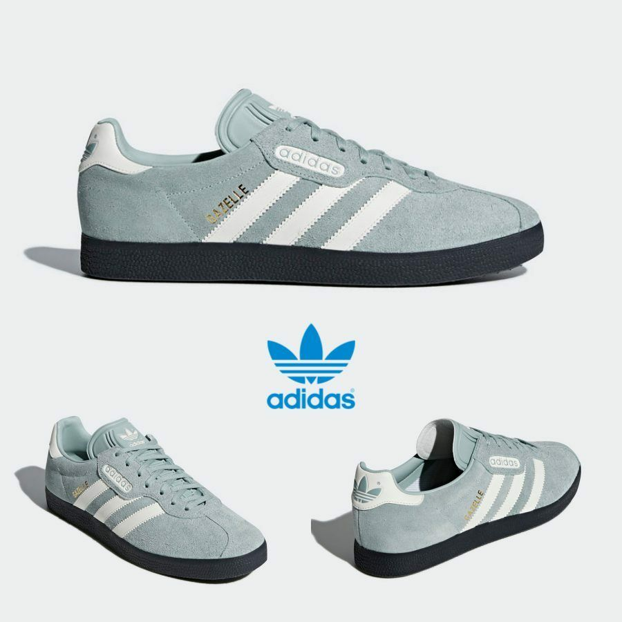 Adidas Original Gazelle Super Shoes Running Green White Black CQ2796 SZ 4-13
