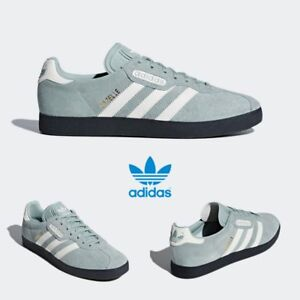 reputable site eee35 7454f Image is loading Adidas-Original-Gazelle-Super-Shoes-Running-Green-White-