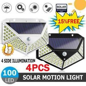 100LED-Solar-Power-Light-PIR-Motion-Sensor-Garden-Security-Wall-Lamp