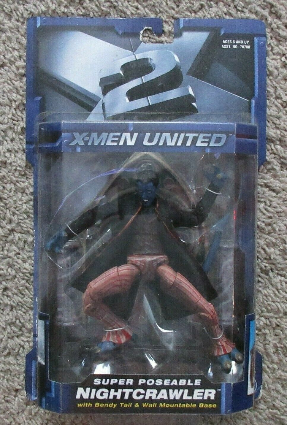 MARVEL X-MEN 2 UNITED NIGHTCRAWLER CLASSICS SERIES TOYBIZ LEGENDS RARE 6  INCH