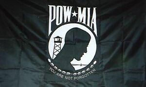 POW MIA POWMIA 3x5 3'x5' EMBROIDERED 2 double sided Flag USA SHIPPER