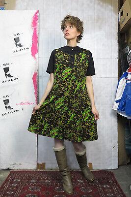 Fiducioso Trevira Donna Abito Beige Nero Neon Verde 70er Truevintage 70s Women's Dress-mostra Il Titolo Originale Tempi Puntuali