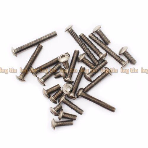 50pcs M4 x 6mm Hex Allen Socket Button Head Titanium Screw Screws
