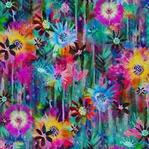 P&B Next Generation Fabric Digital Print Awakening 3039-MU by Robin Mead BTY