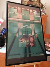 """BIG 11X17 FRAMED BARRY GIBB (BEE GEES) """"NOW VOYAGER"""" SOLO LP ALBUM CD PROMO AD"""