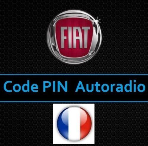 Deblocage Code PIN Autoradio Fiat Punto  Recuperation Code PIN Fiat Punto